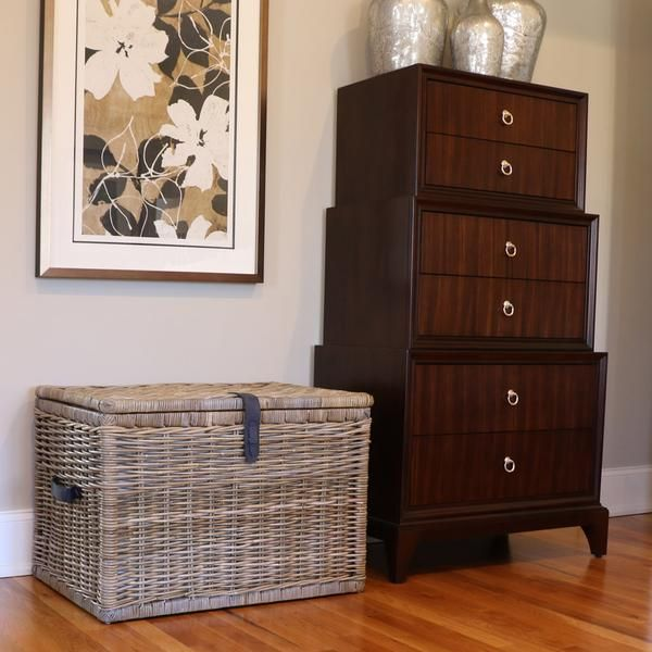 Keep your home looking tidy with our Deep Kubu Wicker Storage Trunk. This wicker storage trunk holds everything from linens to toys.