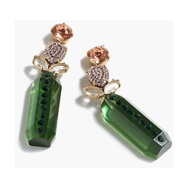 J.Crew Floral drop earrings ($38) ❤ liked on Polyvore featuring jewelry, earrings, floral drop earrings, floral jewelry, earring jewelry, floral earrings and j crew earrings