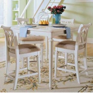 American Drew Camden White 5 pc. Counter Height Table Set - Dining Table Sets at Dining Tables