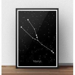 Plakat z gwiazdozbiorem Byka (Taurus)  http://scandiposter.pl/plakaty/154-plakat-ze-znakiem-zodiaku-byk.html