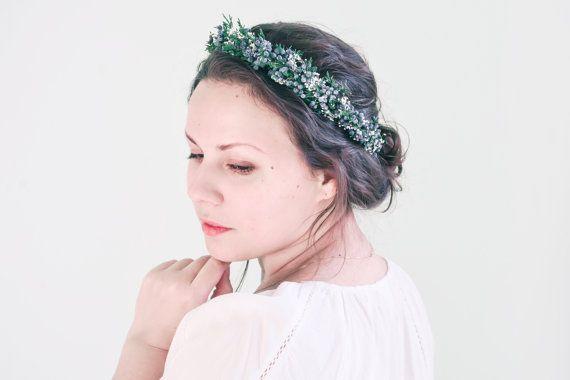 ginepro corona corona di nozze di inverno di NoonOnTheMoon su Etsy