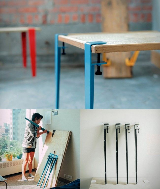The Floyd Leg gives you the framework to take ownership of your furniture by allowing you to create a table from any flat surface.