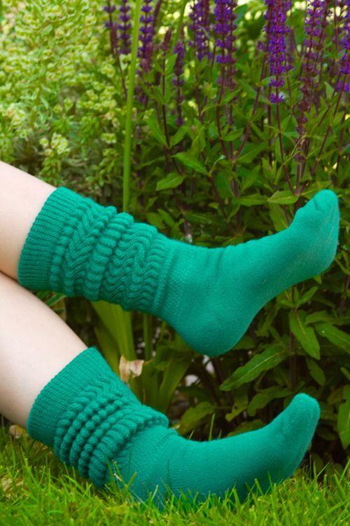 Dreamer Acrylic Slouch Socks Teal