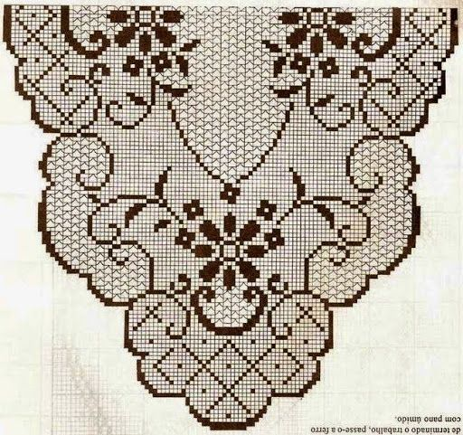 ... striscia on Pinterest Runners, Stitches and Filet crochet charts