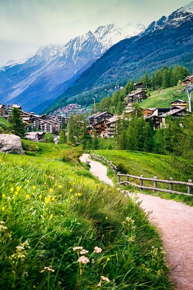 In Zermatt, people use electric cars to prevent pollution. This is an example of the use of renewable sources of energy in Switzerland.