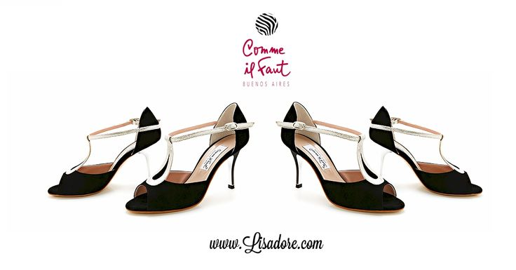 Silver & Black World's Finest Collection of Comme il Faut shoes - Argentine Tango Shoes. Elegant, Exclusive, Handmade, Comfortable, Feminine. Available at www.Lisadore.com