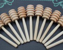LIVRAISON gratuite (200 Qté) Ausleger miel mini de 4 pouces, bâtonnets de miel, en bois miel louches des faveurs de pot de miel