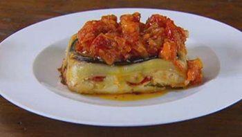 Neil Perrys lasagne di verdure con salsa di pomodoro arrosto