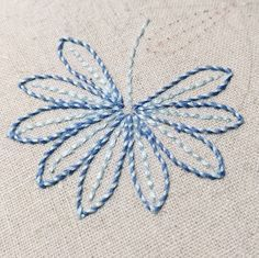 Embroidery ... looks like whipped backstitch outlining the leaves.  Helpful list of stiches / how to, including this one, here: http://www.molliemakes.com/craft-2/library-embroidery-stitches/