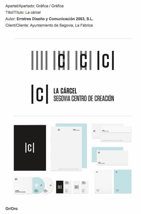 La cárcel, logo + identidad de @erretres_design, ganadora de los @Laus_Awards