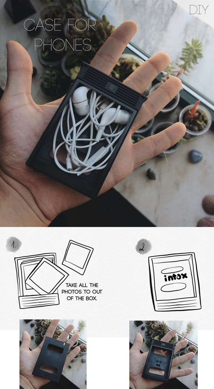 A box for your headphones, do not put on the trash, the box of photos from your polaroid, enjoy for their phones, it is easy to them by and take off quickly.