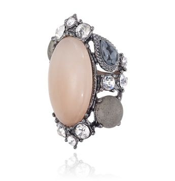 SAMANTHA WILLS - BIRDS OF THE MOON RING - BLUSH