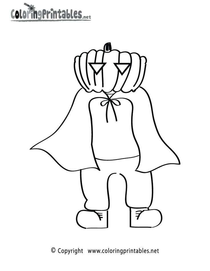 Halloween Coloring Pages Halloween Costume Coloring Page