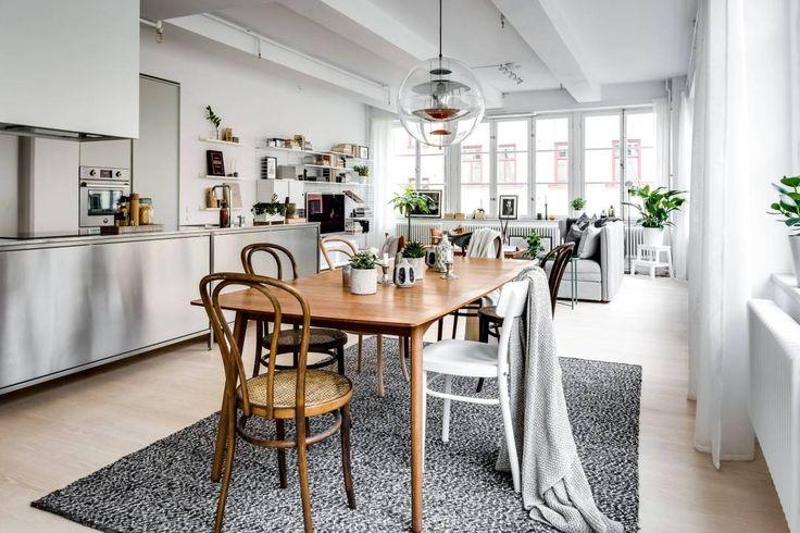 Apartamento tipo loft con grandes ventanales - Blog decoración estilo nórdico - delikatissen