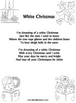 Christmas Carol Lyrics Song Sheets - White Christmas Lyrics Sheets