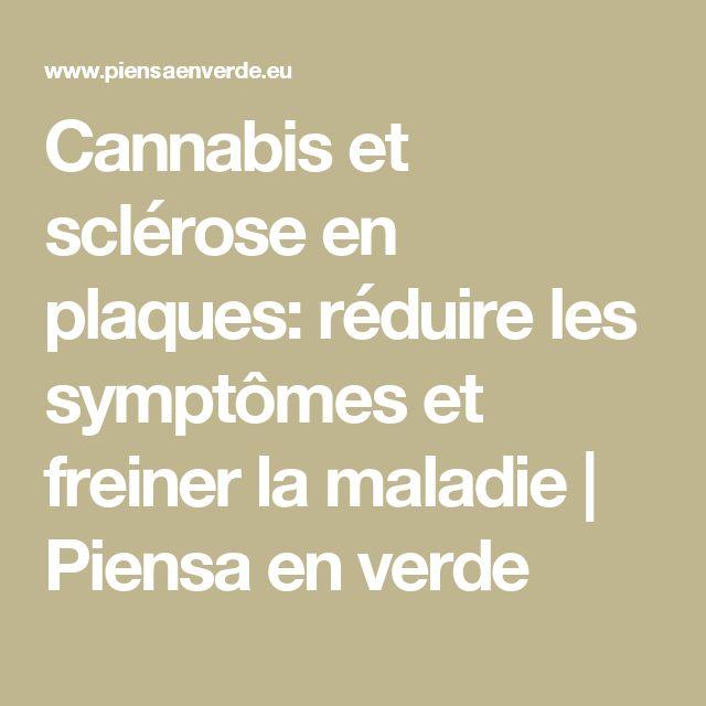 Cannabis et sclérose en plaques: réduire les symptômes et freiner la maladie | Piensa en verde