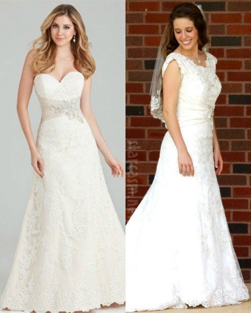 Jill Duggar Wedding Dress Before and After Alterations. I think it's a lot prettier after. :)