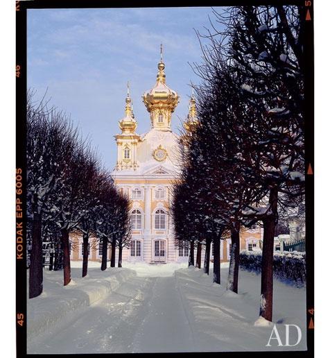 St Petersburg, Russia. Chapel at Peterhof Palace