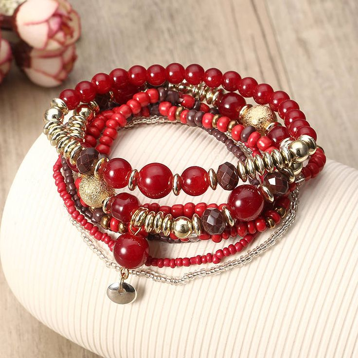 Bohemian Bracelet Beads Multilayer Retro Bracelet For Women at Banggood