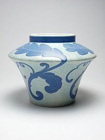 Art Deco Gustavsberg sgraffito vase made by Josef Ekberg 1923