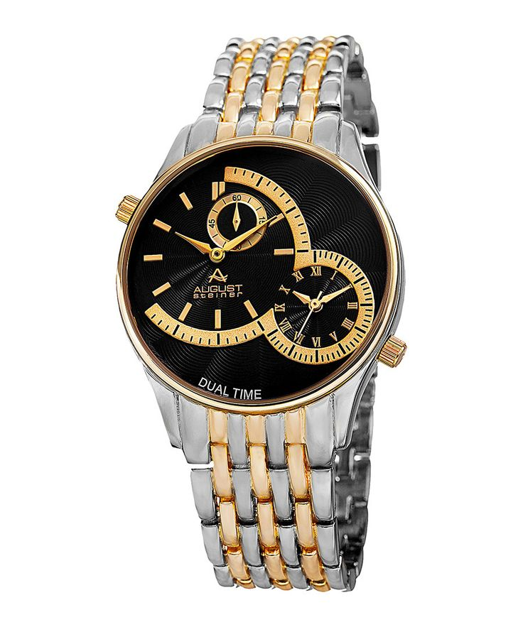 Two-tone double dial bracelet watch Sale - August Steiner