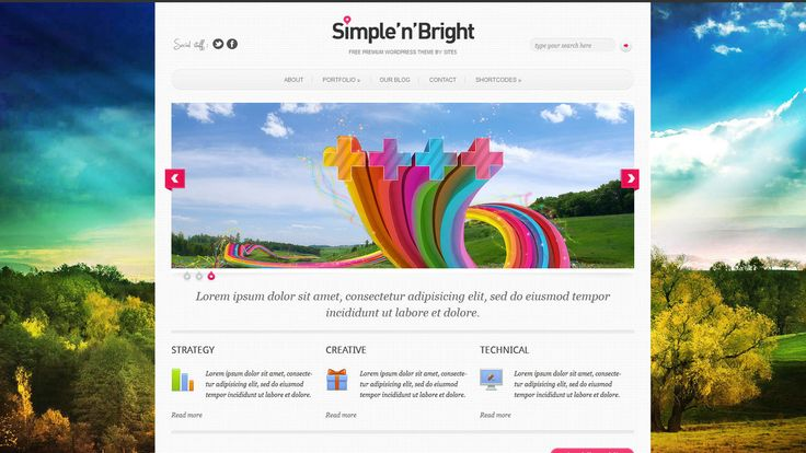 Simply'n'Bright WP-Theme - Download: http://www.s5themes.com/theme/simplenbright/