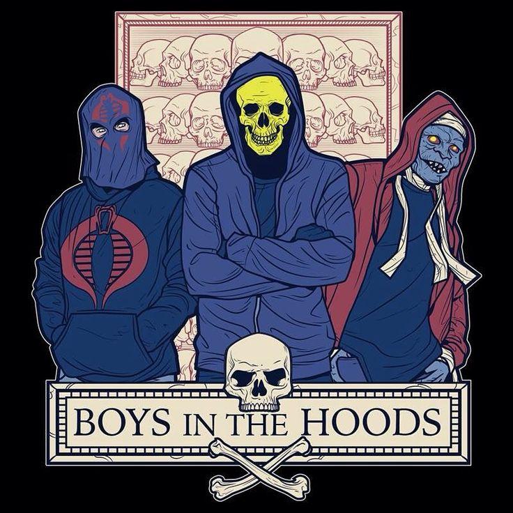 Boys in the Hoods! From the rad @zombiedollars #cobracommander #gijoe #skeletor…
