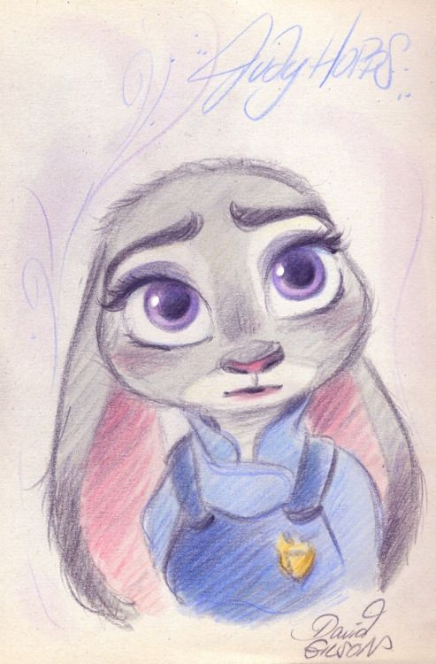 by david gilson tags :sketch raw  drawing  zootopia  disney  awesome  cute  furry