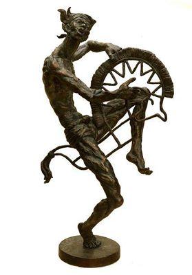 "Sculture - Artist: Wahyu Santoso - Title ""KUDA LUMPING"" - Size: 112x65x60 cm - Edition: 3 - dated:2007 - andi.galeri@yahoo.com"