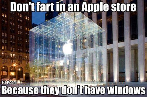 Apple Fart Windows Technology Pun