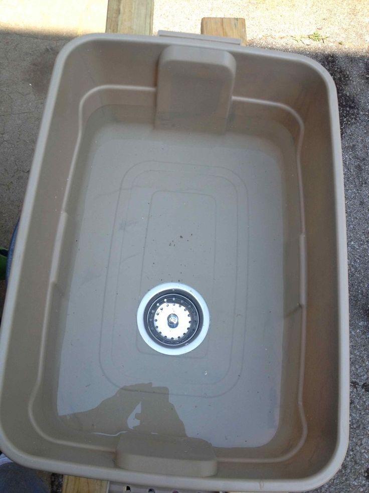 Super Cheap, Lightweight, Full Size camping Sink
