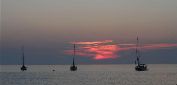 Tramonto sul mare all'isola del Giglio