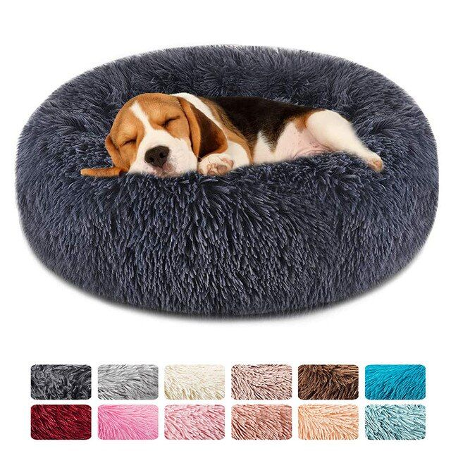 Myagkaya Krovat Dlya Sobak Kruglaya Moyushayasya Dlinnaya Plyushevaya Podushka Dlya Sobak Domik Krovat Dlya Koshki Barhatnye Kovriki Dog Pet Beds Soft Dog Beds Plush Pet Bed