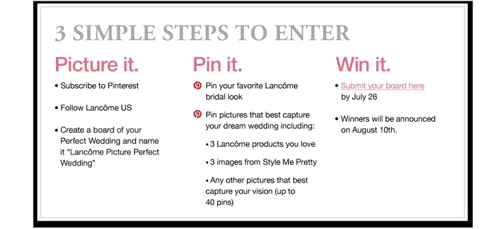 Pinterest Wedding Contest - Picture It. Pin It. Win It.