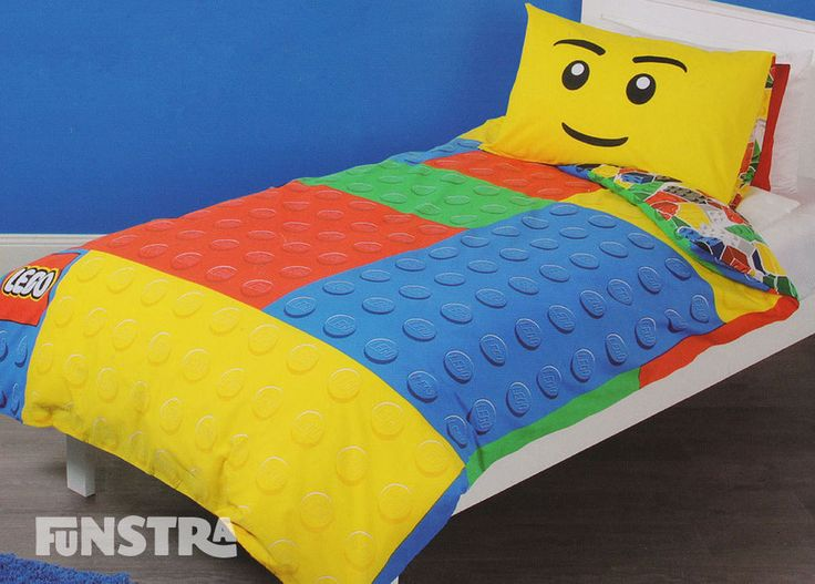 The Lego quilt cover set is brand new in packaging and is an official licensed Lego product.