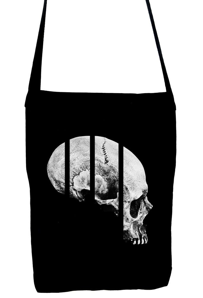 Medical Oddities Human Skull Sling Bag Occult Clothing Book Bag ...