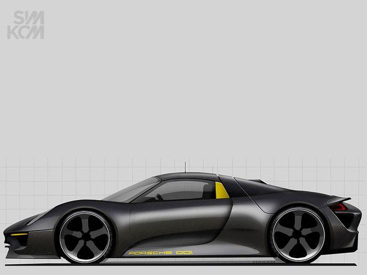 918 spyder concept cars pinterest car sketch cars and transportation. Black Bedroom Furniture Sets. Home Design Ideas