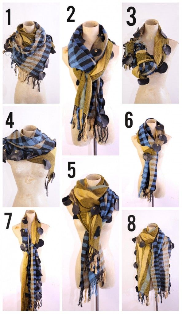 8 Ways to wear a scarf this winter, shawl, wrap, tutorial ...