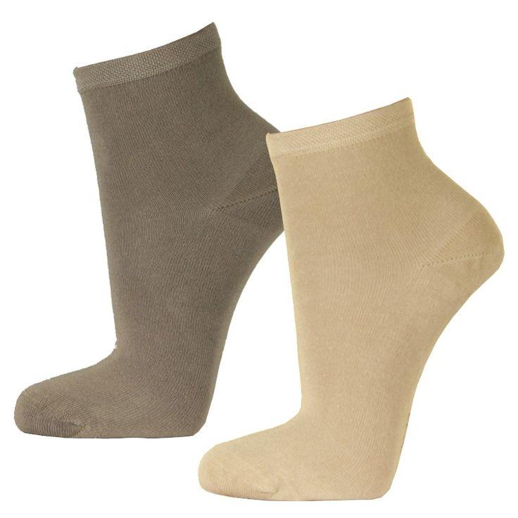 Korte bamboe sokken 2-pack beige tinten 6.50