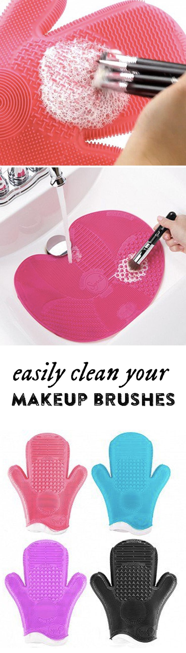 Extend the life of costly cosmetic brushes and wash away bacteria in one clean sweep.
