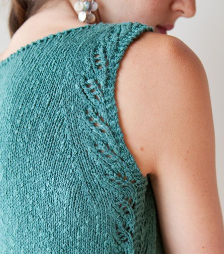 Love this pattern from the new Twist Collective, knit in Rowan Panama, color Aster