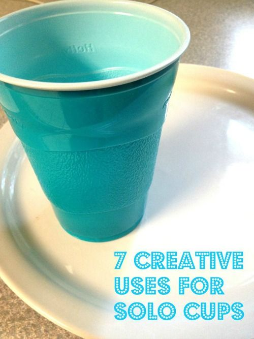 Here are 7 Creative Uses for Solo Cups! Check these out now and try some of these ideas with your kids!