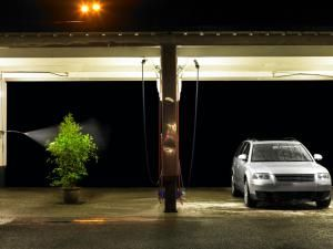 Plant being watered at self service car wash - Ryan McVay/Photodisc/Getty Images                                                                                                                                                                                 More