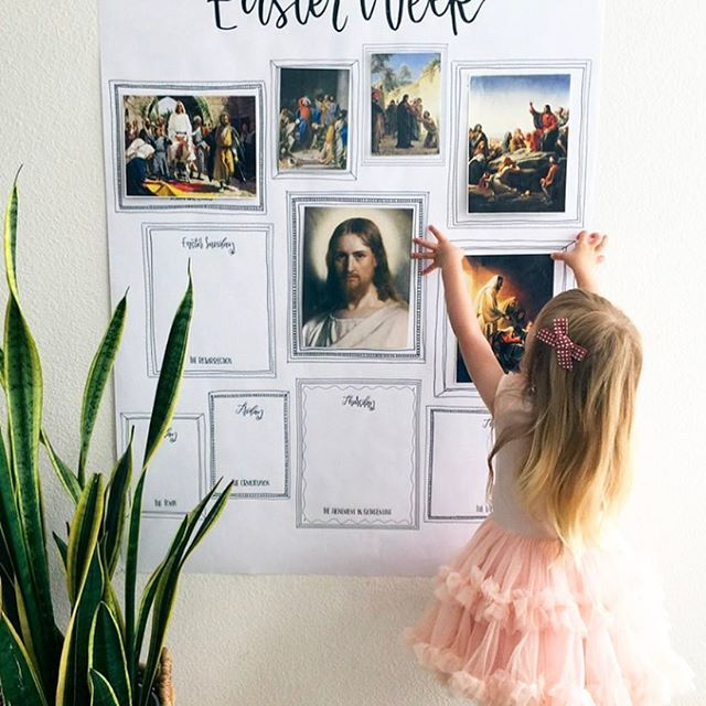 Easter is just around the corner, and if you're like us it's hard to find traditions for Easter that are spiritual in nature. Well you don't have to look any further, because up on the blog @melanieburk is sharing the most beautiful and inspiring Easter tradition all for free to download up on the blog! Not only has she created this big print to use and track each day through the Holy Week, but she's compiled gorgeous artwork that you can print off, a lesson packet that breaks down each day…