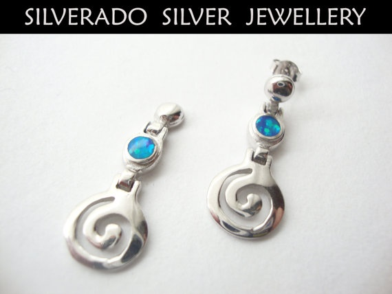 Sterling Silver 925 Greek Spiral Key by SilveradoJewellery on Etsy, €39.00