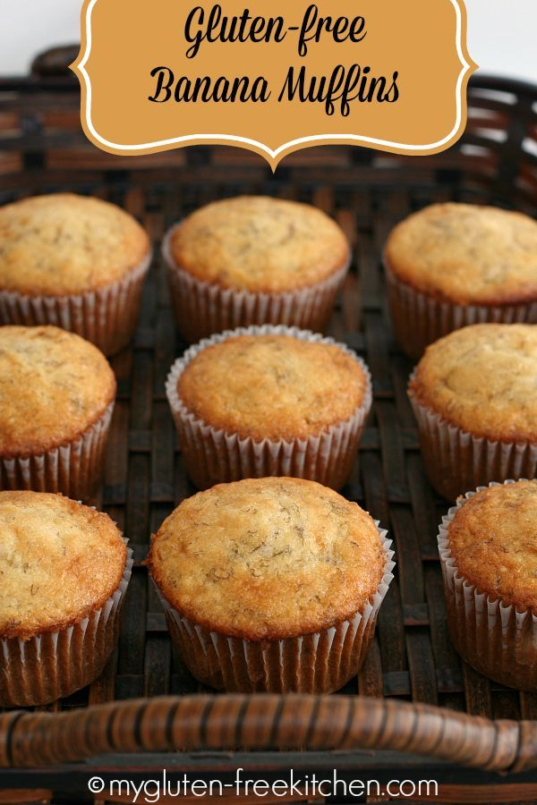 Gluten-free Banana Muffins - Easy, delicious muffins that freeze well too.