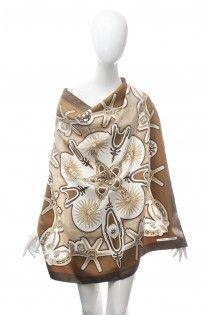 HERMES Les Eperons hedvábný šátek etno motivu
