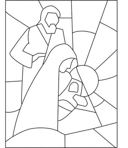 COLOREAR VIDRIERAS DE NAVIDAD   Dibujos para colorear