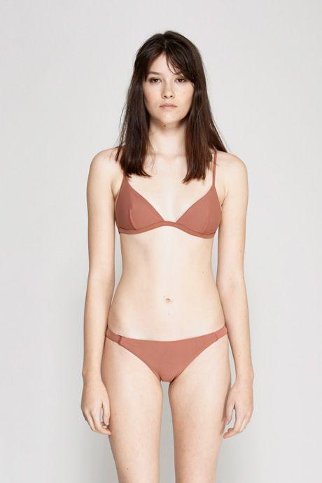 Matteau Swim | Petite Triangle Bikini Top - Pink Clay | MYCHAMELEON.COM.AU