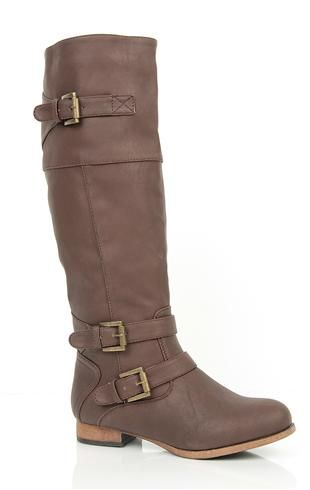 Tall Flat Riding Boot with Multiple Buckles...I'm seriously obsessed with riding boots ATM!!!